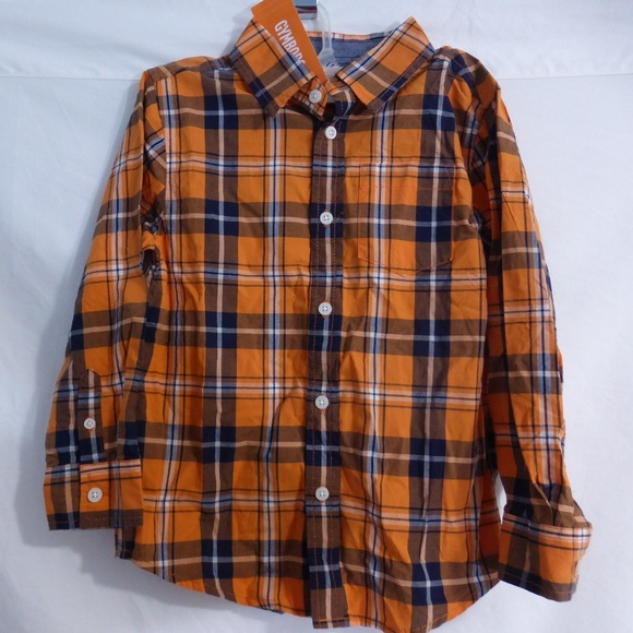Gymboree size 5-6 years plaid button front shirt